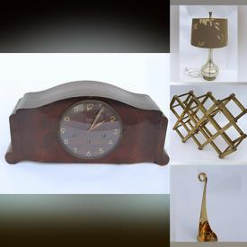 MaxSold Auction: This online auction features NIB Mirrored Nightstand, Junghans Mantel Clock, Teak Lamp, Art Glass, Stained Glass Lamp, Vintage Chandelier, Stoneware Pot, Hand Tools, Brass Pieces, Inversion Table, Golf Clubs and much more!