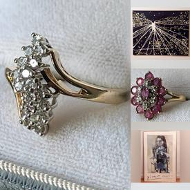 MaxSold Auction: This online auction features jewelry, costume jewelry, Vintage coins, small tables, teapots, vintage books, paintings, antiques, rugs, electronics, vintage ornaments, chairs, shoes and much more!