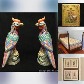 MaxSold Auction: This online auction features home decors, antique medals, toys, classic books, home furniture, frames, vintage items and much more!