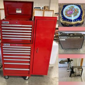 MaxSold Auction: This online auction features Limoges Garanti Box, Roll Away Toolbox, Binoculars, Power Tools, Brass Sundial, Garden Pots, Electric Lawnmower, Vintage Costume Jewelry, Cigar Boxes, Wine Cooler, Sports Flags, Vintage Waterski, Le Creuset Enamel Pans and much more!