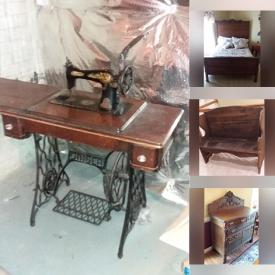 MaxSold Auction: This online auction features Antique Victorian Hall Tree & Buffet, Antique Oak Desk, Antique Butter Churn, Vintage Church Pew and much more!