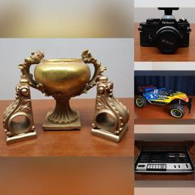 MaxSold Auction: This online auction features Coca-Cola Memorabilia, Teapots, Vintage Toys, Costume Jewelry, Action Figures, NIB Zinux Tables, Carnival Glass, Swarovski Crystal Memories, TV, Carved Wooden Mask, Guitar, Stereo Components and much more!