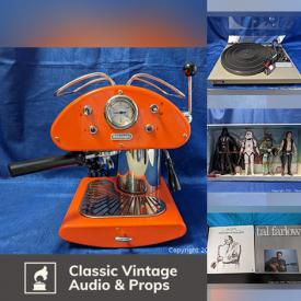 MaxSold Auction: This online auction features vintage audio, electronics, vinyl records, art, Italian espresso machines, collectibles, rock band & Japanese Anime T-shirts, toys, tools and much more!