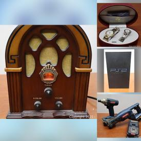 MaxSold Auction: This online auction features watches, kitchen electronics, playstation, Xbox system, speakers, TVs, tablets, cameras, gaming items, laptop, office supplies, home decors, toys, costume jewelry, tool lot and much more!