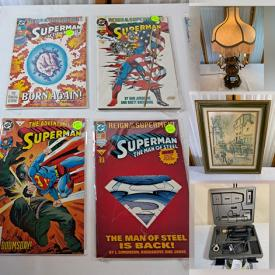 MaxSold Auction: This online auction features trading card, sports collectible cards, kitchenware, home decors, tools, wall painting, plant stand, vintage dolls, kitchen electronic, clothes, craft supplies, garden goodies, watches, comics and much more!