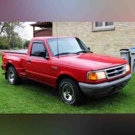 MaxSold Auction: A 1997 Ford Ranger and vintage auto brochures highlight this successful MaxSold online auction! Arkona residents competitively bid for large tool sets, a foosball table and patio sets!