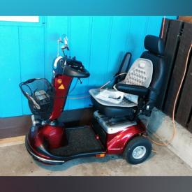 MaxSold Auction: This online auction features Shoprider Scooter, garden tools, kobo e-reader, china, artwork, collectibles, decor, furniture and much more!
