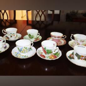 MaxSold Auction: This online auction features FURNITURE: Patio, Cindy Crawford electric leather recliner, double pedestal dining table and six chairs, cedar lined chest. COLLECTIBLE: Teacup sets. VINTAGE: Rattan sofa, desk and chair and side table. Lawn and garden and much more!
