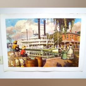 MaxSold Auction: This online auction features artwork such as ship prints, food advertising prints, clyde beatty cole bros circus advertisement, native american prints and much more!