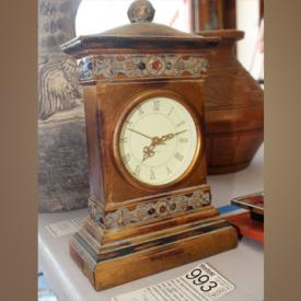 MaxSold Auction: This online auction features decorative collectibles including an elephant collection, African and Southwest-inspired decor and more; decorative clocks; Daddy's Long Legs dolls; Signed Art; furniture including an intricately carved secretary desk; a vintage sewing machine and much more!