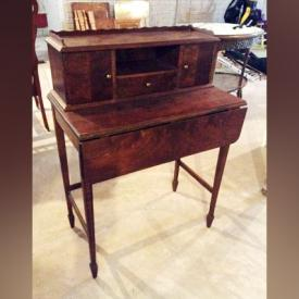 MaxSold Auction: This online auction features early handcrafted Lazy Boy made by inmates at CSC, upholstered armchair with matching ottoman, oval parlour table, early student desks, electric hanging wall fireplace, Christmas decor, wicker shelving, Hedstorm rocking horse, Wood and lace dressing screen, marble with brass and glass lamp, Keirstead and Inuit prints, golf clubs, power tools, garden tools and more!