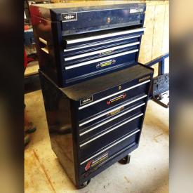 MaxSold Auction: This online auction features sanders, laser level, wall mounted hardware caddies, tool boxes, cordless drill, mitre saw, and much more!