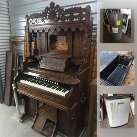 MaxSold Auction: This MaxSold Houston fundraising online auction featured ANTIQUE: Home Comfort c 1910 wood burning stove; c. 1870's dining chairs; c. 1880's upholstered chairs; pair of 1850's balloon back side chairs; George Woods and Co. and an ornate c. 1880's organ; 2 c. 1880's Eastlake chairs; domed c. 1900 steamer trunk; framed needlepoint; doll clothing. Kohler spa tub; Trane AC compressor and furnace,plus lots more reclaimed home improvement items and much more!