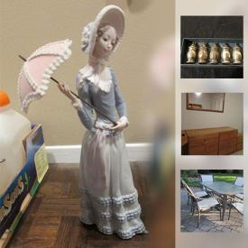 MaxSold Auction: This online auction features wall art, gardening supplies, power washer, ladders, tools, picture frames, duffel bags, golf clubs, dog crate, record albums, skis, projector, pottery, speakers, board games, typewriter, costume jewelry, easels, and much much more!