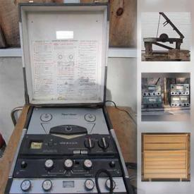 MaxSold Auction: This online auction features Black & Decker Work Horse, collectibles, furniture, electronics, Vintage Evenrude 4cyl boat motor, antiques, Vintage 'Allen' Automotive Diagnostic Equipment and much more!