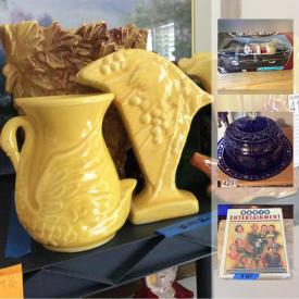 MaxSold Auction: This online auction features stuffed animals, coins, stamps, model cars, magazines, newspapers, DVDs, books, figurines, plate collection, Halloween decorations, ceramics, jewelry, porcelain dolls, lamps, and much more!