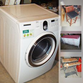 MaxSold Auction: This online auction features saddles, windows, yard tools, gardening supplies, golf clubs, books, TVs, VHS players, vacuum, stereos, speakers, children's toys, aquarium, pool accessories, skates, hockey equipment, bicycles, holiday decor, jerseys, clothes dryer, cutlery, drums, weed trimmers, board games, figurines, candles, and much more!