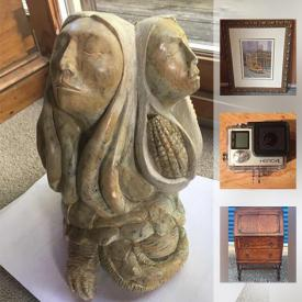 MaxSold Auction: This online auction features soapstone, GoPro, privacy panels, advertising sign, pottery, miniatures, horse statue, antique kitchen mixers, gumball machine, wall art, softball bat, children's toys, stuffed animals, DVD player, VHS player, cameras, vintage doll house, and much more!