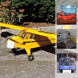 MaxSold Auction: This online auction features R/C Model Air Planes, R/C Model Air Plane Parts, 1959 Chevy El Camino Red Die Cast Car, 2003 Dubcity Oldskool Die Cast Car, 2004 Dubcity Bigtime Muscle Die Cast Car, 1955 Buick Century Metal Kit Model, PSP Game System, Nintendo NES Games, Hockey cards and much more!