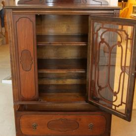 MaxSold Auction: This auction features Royal Doulton china, framed artwork, cross country skis, electric lawn mowers, music albums, crock pots, tools, pine tall boy dresser, mini fridge, dining table and chairs, vintage china cabinet, Grill Master barbecue, wheelchair, and a Panasonic sound system!
