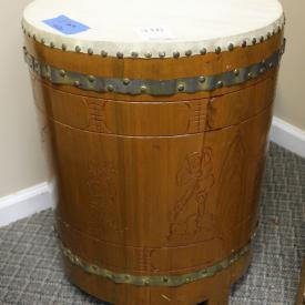 MaxSold Auction: Features bikes, Noritake 8 piece china set, Trammel mirror and pedestal, sled, croquette set, chest of drawers, bike rack, lamps, curio, records, globe lamp, Gordex overalls, mink, jewelry, motorcycle gear and more!