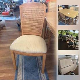 MaxSold Auction: This online auction features patio furniture, glassware, figurines, LP records, tea pots, utensils, jewelry, decorative masks, golf clubs, ladder, power tools, grandmother clock, entertainment console, board games, holiday decor, camping accessories, wall art, books, and much  more!