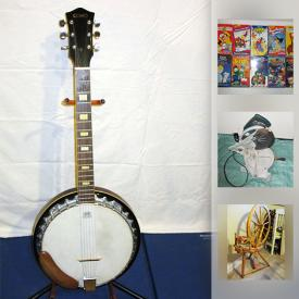 MaxSold Auction: This online auction features ART: Limited edition prints; antique etching by Charles Waltner; Joyce Betts pastel; Trisha Romance print; original paintings. Artist tool kit. MUSICAL INSTRUMENTS: Kay bass guitar, vintage Harmony 4-string guitar, Vantage acoustic guitar, Como 6-string Banjitar. ELECTRONICS: Denon stereo system; Bose speakers; Harvard Air Hockey Table. Kruk snowboards, helmet, goggles, Burton boots; bicycles; scooters; bike stand and carrier. Pine spinning wheel. Books. CHINA: Radnor florals. COLLECTIBLE: Hohner harmonicas; Baseball and hockey cards; mint stamp blocks, 1st day issues; duck decoys; Limoges plate; LP's and much more!
