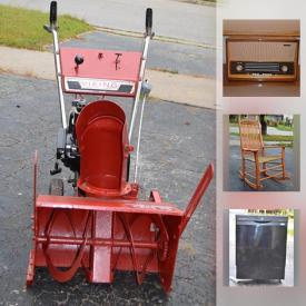 MaxSold Auction: This online auction features snowblower, dishwasher, art glass, lamps, record albums, light fixtures, table top hockey, LEGO, fire extinguisher, headphones, Hot Wheels, postcards, and much more!