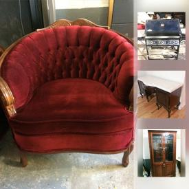 MaxSold Auction: This online auction features a Cobra double-sided wood insert fireplace. Sony Trinitron TV, vintage Pioneer speakers. Proform treadmill. Light fixtures. Bedroom furniture; Victorian style love seat and chair; office. Large size framed prints and much more!