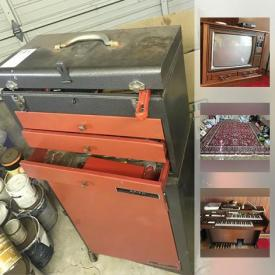 MaxSold Auction: This online auction features Gulbransen electric organ, vintage Radio Shack TSR-80 computer, Danby portable dishwasher, Viking chest freezer, wool area rug, Birch desk with display shelf, Tiffany style light fixtures, mink coat and shawls, sporting goods such as sled, figure skates and ski boots, ping pong table, wine making supplies, power tools, ladders, rolling tool chest, vintage RCA wood cabinet TV and much more!