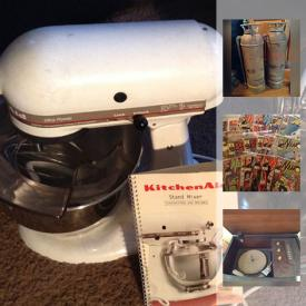 MaxSold Auction: This online auction features costume jewelry, plant stands, comic books, fire extinguishers, vintage toys, records, board games, glass wear, model ships, model cars, pottery, records player, stamps, dolls, model trains, tools, and much more!
