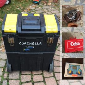 MaxSold Auction: This online auction features artificial food, hedge trimmers, tennis balls, fishing rod, hockey sticks, outdoor toys, computer accessories, video game consoles, board games, luggage, DVDs, toy cars, cameras, books, tool chest, and much more!
