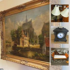 MaxSold Auction: This online auction features faux plants, wall art, lamps, decor, clocks, candle holders, tapestry, rugs, mirrors, and much more!