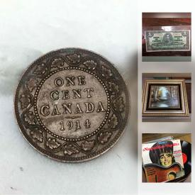 MaxSold Auction: This online auction features collectible coins, records, comic books, headphones, jewelry, books, battery charger, ceiling light, bookcases, Pokemon cards, and much more!