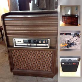 MaxSold Auction: This online auction features a pressure washer and ShopVac, Technics stereo equipment, matching dressers, Blue Moutain pottery, Yardworks wood splitter, Yard King weed trimmer, Sony surround sound system, pearl jewelry, Unicord acoustic guitar and much more!