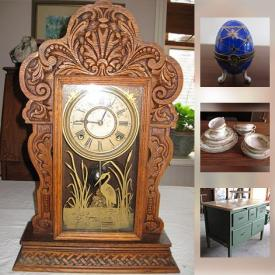 MaxSold Auction: This online auction features coins, sewing machine, hand tools, bookcases, model trains, train tracks, computer monitor, clocks, pottery, china, camera tripod, books, trinket boxes, Halloween decor, phonograph, teapots, and much more!