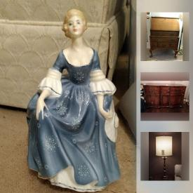 MaxSold Auction: This online auction features china, silver, antique furniture, royal doulton, household appliance, lighting fixture, clothes, artwork, jewelry, collectibles, decor and much more!