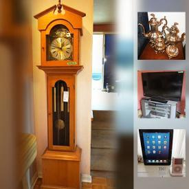 MaxSold Auction: This MaxSold online downsizing auction featured Ornate Antique Brass Bed, Concrete Lion, Grandmother Clock, Stone Statues from Kenya, Ipod and Ipad, Hardy Boys Books, Electric Piano, Dyson Vacuum, Sony TV and Speaker Set, Art, Rugs, Cedar Chest and much more!