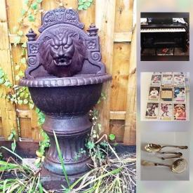 MaxSold Auction: This online auction features  lots of COLLECTIBLES such as Mikasa crystal, hockey cards, KISS lighter, Geobel plates and Bing and Grondahl plates, Royal china, ELECTRIC PIANO, Barbie dolls NIB, mens leather and Shearling coats and much more!