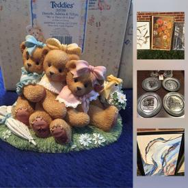 MaxSold Auction: This online auction features art, jewelry, COLLECTIBLE: Coca Cola; Barbie; German Volksmarch plates; Charming Tails, Salvino Bammers; Cherished Teddies and much more!