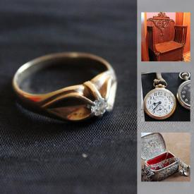 MaxSold Auction: This online only auction features men's and ladies gold rings, a gold and diamond ring, 2 gold charm bracelets one with charms, sterling silver jewellery, some hand crafted. Vintage pocket watches, ladies vintage watch and pendant, lighter collection, and clothing brushes. Coin collection, Mobo tin riding horse. Royal Doulton figurnines, Besqick pug and horse figurines, Royal Doulton horse figurine, Collection of pug decor and original art. Large buffet with carved doors, washstand, oak hall seat, queen bed with Temperpedic mattress, 2 cedar chests, electric recliner/lift chair. Baking trays, Pampered Chef baking dishes, Royal Doulton china, Brown Quail china, crystal stemware, flatware, china luncheon sets. Laminate flooring, filing cabinets and desk. Western saddle, chaps and vest and western hats, saddle and leather care products, veterinary thermometer, Exide glass battery boxes and so much more!