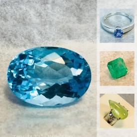 MaxSold Auction: This online auction features gemstone jewelry and gemstones, as well as a pair of fossil shells and much more!