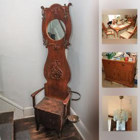 MaxSold Auction: This online auction features Thomasville dining room furniture, lots of glassware and barware, china, African-American figurines and decor and much more!