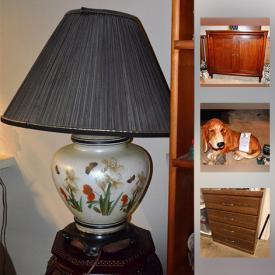 MaxSold Auction: This online auction features Emerson Television, vintage chair, painting by Steiner, vintage books, crystal bells, LAZ-Boy Recliner, Asian Tea Set, Curio Cabinet, Laminate file cabinet, Dresser, and much more!