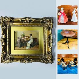 MaxSold Auction: This online auction features wall art, globe lamp, Christmas ornaments, glass, figurines, crystal, stemware, tea set, doctor bag, framed KISS album, and much much more...