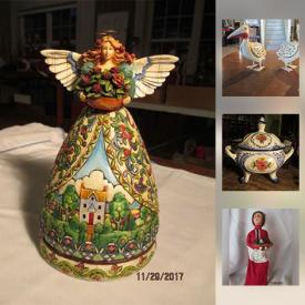 MaxSold Auction: This online auction features ANTIQUE: Lalique and Baccarat perfume bottles; newspapers; beaded purses. ART: Originals; Mola wall hanging; signed lithographs. HANDMADE: Lambswool blanket. JEWELRY: Metropolitan Museum of Art enamel bangle bracelets. COLLECTIBLE: Owls. CHRISTMAS DECOR: Golf clubs and much more!