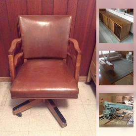 MaxSold Auction: This online auction features YardWorks and yard tools and ladders, Mondail car carrier, patio items and fire pit, camping gear, Hotpoint frig and Woods chest freezer, Dewalt radial arm saw and other tools, Danby humidifier, decor and original watercolors and much more!