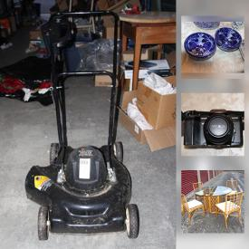 MaxSold Auction: This online auction features sports merch, video games, CDs, camera, books, figurines, holiday decor, glass, records, vacuum, lawnmower, sound system, Nintendo DS, jerseys, toys, board games, dolls, and much more!