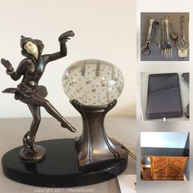 MaxSold Auction: This online auction features CDs, jewelry, weights, wall art, sewing machine, cassettes, DVDs, records, roller blades, stereo system, TV, candlesticks, e-readers, pottery, china, camera tripods, books, Halloween decor, and much more!