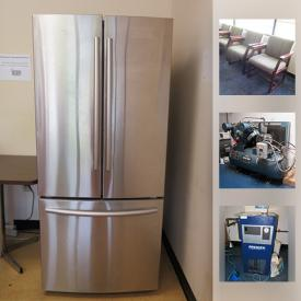 MaxSold Auction: This online auction features artworks, NIB Plastic Sorting Bins, office chairs, Saylor Beall Air Compressor, Cube Walls, Assortment of Office Supplies, Industrial Vacuum, appliances, Premier Compressed Air Dryer, office desk and chairs, electronics and much more.